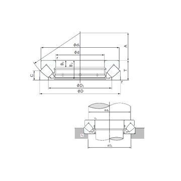 K81208TN SKF Ρουλεμάν ώσης